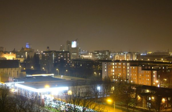 Light pollution in Manchester
