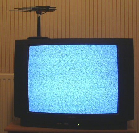 Noise on a TV set