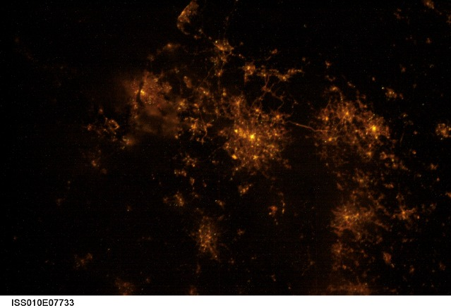 The UKs North-west from the ISS at night
