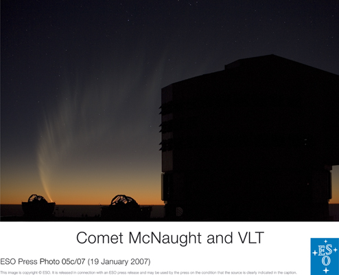 Comet McNaught and ESO