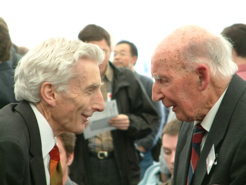 Lord Martin Rees and Sir Bernard Lovell